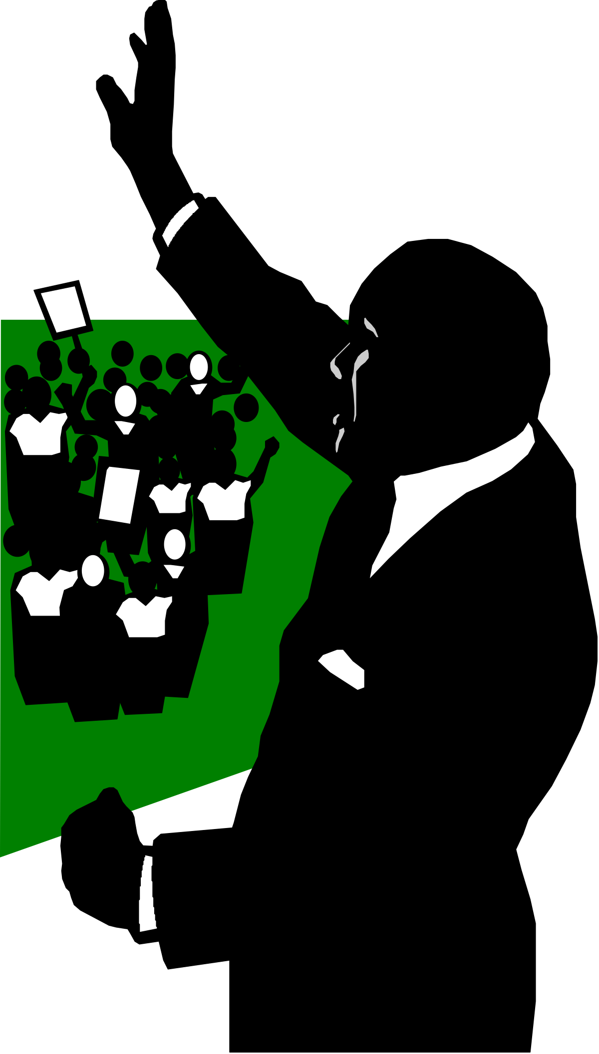 Vector Illustration Silhouette People Business Women Businessman Men Businesswoman Teamwork Business Person Manager Females Occupation Computer Graphic Symbol Isolated Back Lit The Human Body Black Color Success Communication Meeting Group Of People Working Outline Males Suit Togetherness